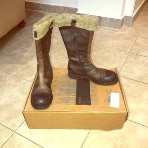 Radical Brown LeatherShearling Snow Boots Size 37